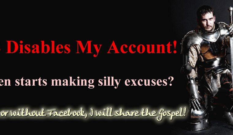 Facebook Disables Account