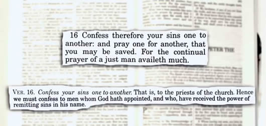 Confess Your Faults Not Your Sins To One Another