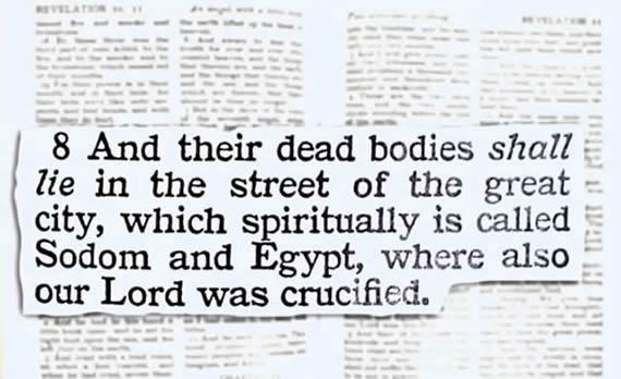 Spiritually called Sodom and Egypt