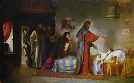 Raising of Jairus' Daughter by Ilya Repin, 1871.